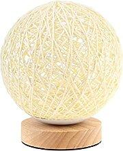 DFHT Lampe de Table LED Réglable Boule De Rotin