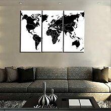 DFJDF Tableaux Decoration Murale Carte du Monde