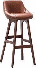 DFJKE Chaise de Bar en Bois Massif, siège à