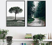 DFRES Forêt Arbre Toile Peintures Nature Paysage