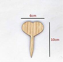 DFSMG 3/10pcs Bambou Tranches De Bambou Marqueurs