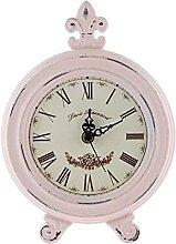 dh-13 Réveil Horloge en Bois rétro Rose Bureau