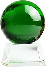 dhcsf Crystal Ball Verre Decoration Cadre en Bois