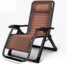DHR Balancelle chaises Pliantes Zero Gravity rotin