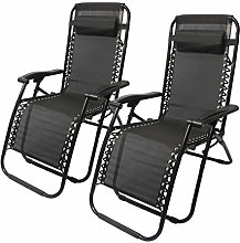 DHR Chaise Longue De Jardin, Lot De 2 Chaises