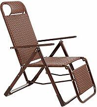 DHR Chaise Longue Pliante en Rotin, Jardin