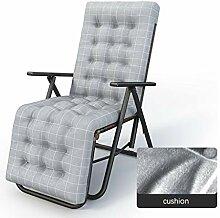 DHR Chaise Pliante Inclinable en Rotin PE Chaise
