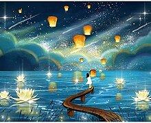 Diamant Dessin 5D Diy Nuit Starry Night Lampe de