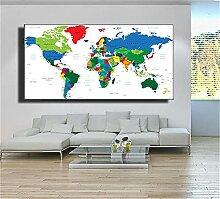Diamond Painting Carte du monde 5D DIY Broderie