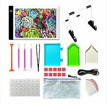 Diamond Peinture A4 LED Light Pad Kit, Table