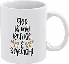 Dieu est ma tasse de tasse de café de paix et de