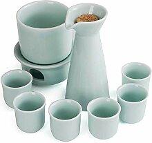 DIHAO Ensemble de 9 pièces à saké, Verres à