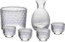 DIHAO Ensemble de saké de 5 pièces en Verre