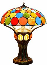 DIMPLEYA Lampe De Table De Style Tiffany 50Cm