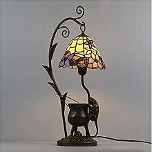 DIMPLEYA Lampe de Table de Style Tiffany,