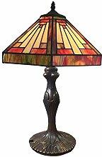DIMPLEYA Lampe de Table de Style Tiffany, Lampe de
