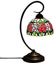 DIMPLEYA Lampe de Table rétro Tiffany Lampe de
