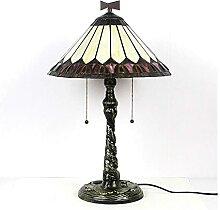 DIMPLEYA Lampe de Table Tiffany Moderne