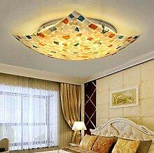 DIMPLEYA Plafonnier LED De Style Tiffany,