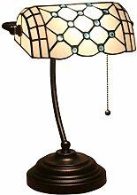 DIMPLEYA Tiffany Bankers Bureau Lampe de Table