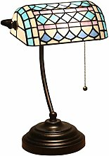 DIMPLEYA Tiffany Style Banker's Table Lampe,
