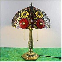DIMPLEYA Tiffany Table Lampe Rétro Salon Chambre