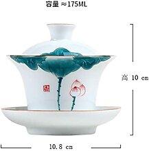 DINGM 175 ML Gaiwan Bol à thé en céramique