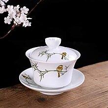 DINGM Ensemble de Bol à thé en céramique Peint