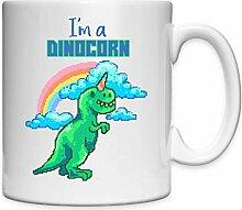 Dinocorn T Rex Rainbow Pixel Art Tasse en
