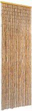 Dioche Rideau de porte en bambou avec une barre en