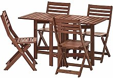 DiscountSeller ÄPPLARÖ Table+4 chaises pliantes,