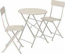 DiscountSeller SALTHOLMEN Table+2 chaises