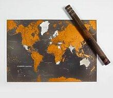 Display carte du monde a gratter