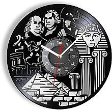 Disque Vinyle Horloge Murale Culture Égyptienne