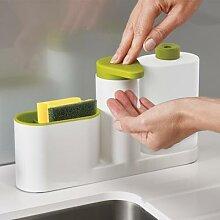 Distributeur de savon liquide en évier 3 en 1,