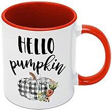 Ditooms Tasse à café humoristique Hello Pumpkin