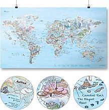 Dive Map by Awesome Maps - Carte du monde