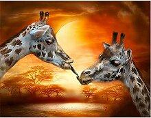 DIY 5D Diamond Painting par numéro Kit girafe