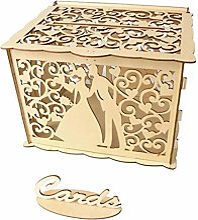 DIY Mariage Carte-Cadeau Boîte Tirelire en Bois