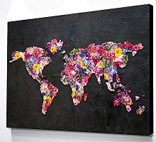 DIY Peinture Diamant 5D pour Adulte,Carte du monde
