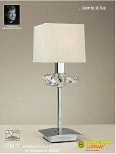 Diyas - Lampe de Table Akira 1 Ampoule E14, chrome