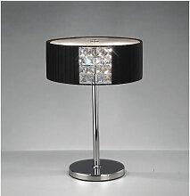 Diyas - Lampe de Table Evelyn rond avec Abat jour