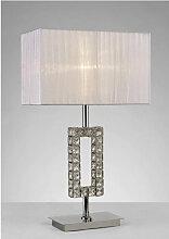 Diyas - Lampe de Table Florence Rectangle avec