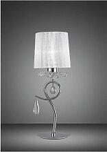 Diyas - Lampe de Table Louise 1 Ampoule E27 avec