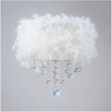 Diyas - Plafonnier Ibis avec Abat jour blanc en