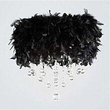 Diyas - Plafonnier Ibis avec Abat jour noir en