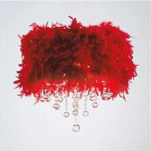 Diyas - Plafonnier Ibis avec Abat jour rouge en