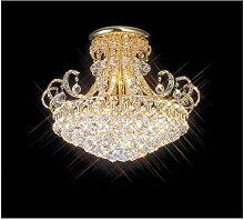Diyas - Plafonnier Pearl 12 Ampoules doré/cristal