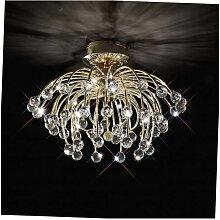 Diyas - Plafonnier Xeena 10 Ampoules doré/cristal