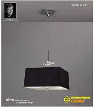Diyas - Suspension Akira 4 Ampoules E27, chrome